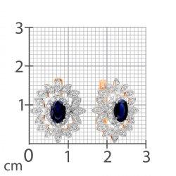 Серьги из золота KARATOV АРТ t141028060*44-33 2