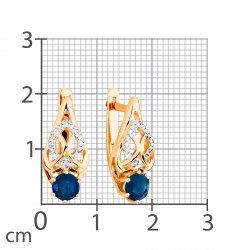Серьги из золота KARATOV АРТ t141026678*44-33 2