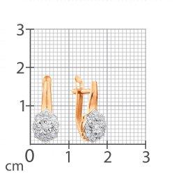Серьги из золота KARATOV АРТ t14562b135*44 2