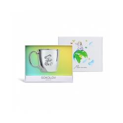 Чашка из серебра SOKOLOV АРТ 2301010033 2