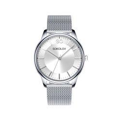 Ceas din oțel din  SOKOLOV art 326.71.00.000.01.01.2 2