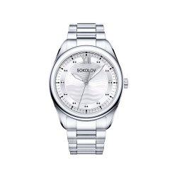 Ceas din oțel din  SOKOLOV art 322.71.00.000.01.01.2 2