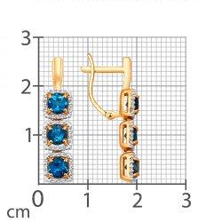 Серьги длинные из золота SOKOLOV АРТ 724177 2