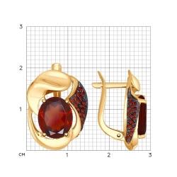 Cercei din aur SOKOLOV art 724839 3