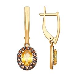 Серьги длинные из золота SOKOLOV АРТ 81020364 1