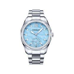 Ceas din oțel din  SOKOLOV art 324.71.00.001.02.01.2 2