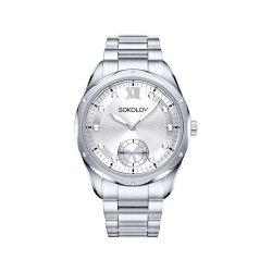 Ceas din oțel din  SOKOLOV art 323.71.00.000.01.01.2 2