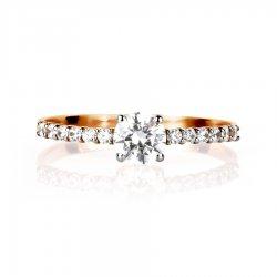 Помолвочное кольцо из золота KARATOV АРТ t142015549*70 2