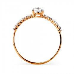 Помолвочное кольцо из золота KARATOV АРТ t142015549*70 3
