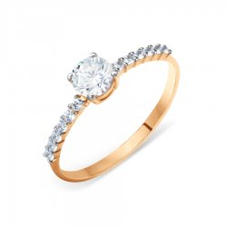 Помолвочное кольцо из золота KARATOV АРТ t142015549*70 1