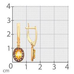 Серьги длинные из золота SOKOLOV АРТ 81020364 3
