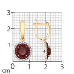 Серьги длинные из золота SOKOLOV АРТ 725280 2
