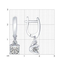 Серьги длинные из серебра SOKOLOV АРТ 89020028 2