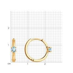 Серьги конго из золота SOKOLOV АРТ 727570 3