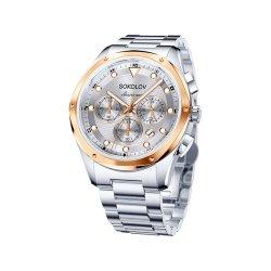 Часы из стали из серебра SOKOLOV АРТ 320.76.00.000.04.01.3 1