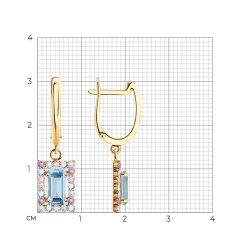 Серьги длинные из золота SOKOLOV АРТ 727553 2