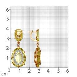 Серьги длинные из золота SOKOLOV АРТ 6024033 2