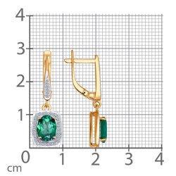 Серьги длинные из золота SOKOLOV АРТ 3020333 2