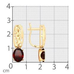 Cercei suspendați din aur SOKOLOV art 725552 3