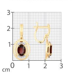 Cercei suspendați din aur SOKOLOV art 725677 3