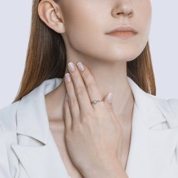 Помолвочное кольцо из золота SOKOLOV АРТ 1012041 3