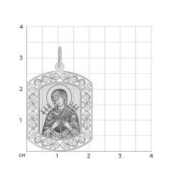 Иконка из серебра SOKOLOV АРТ 94100208 2