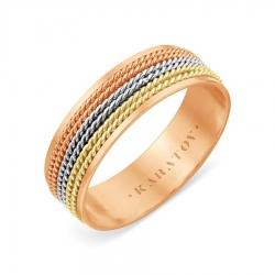 Обручальное кольцо из золота KARATOV АРТ t110619121-k 1