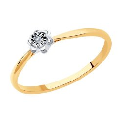 Помолвочное кольцо из золота SOKOLOV АРТ 1011965 1