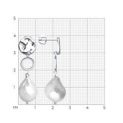 Серьги длинные из серебра SOKOLOV АРТ 92022125 3