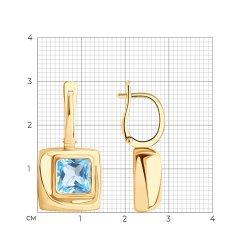 Серьги длинные из золота SOKOLOV АРТ 727504 3